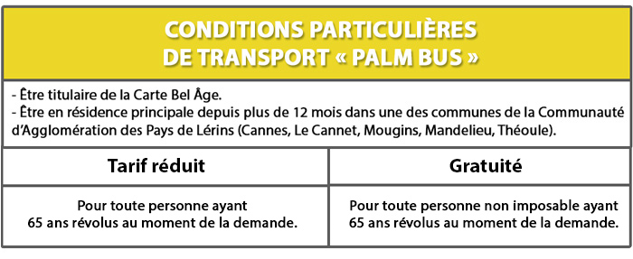 Conditions Palm Bus