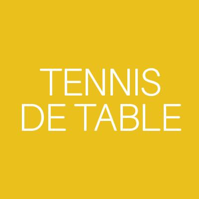 Sports Tennis de Table
